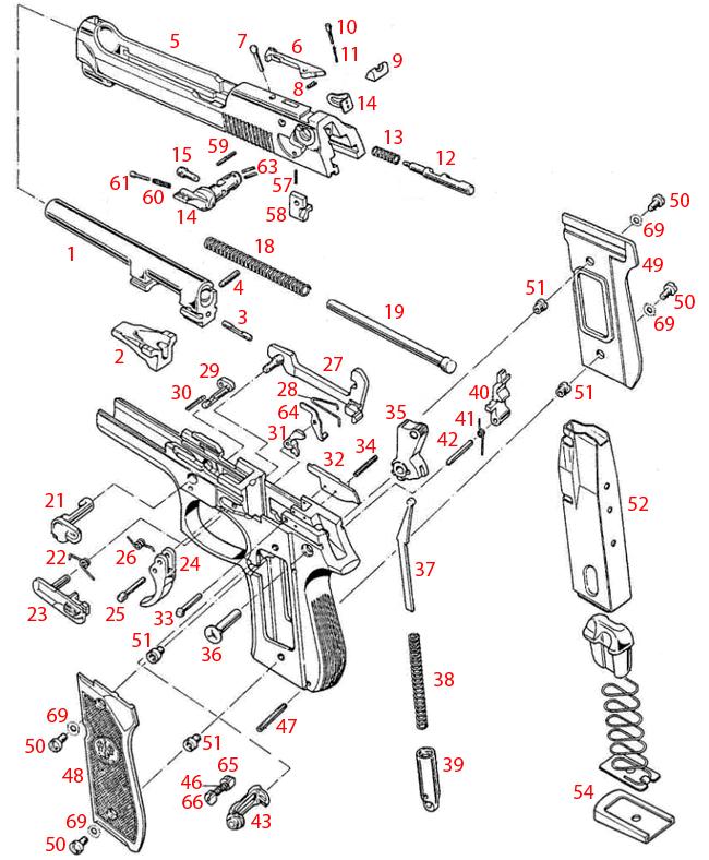 Beretta® M9/M9A1 Schematic - Brownells Ireland