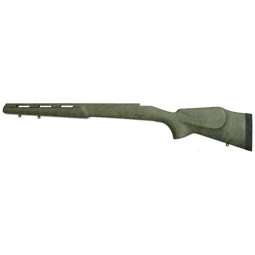 Remington 700 Sporter Stock, Olive w/Blk Web LH BDL