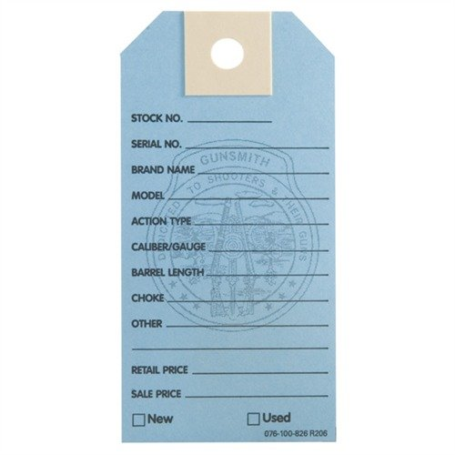 1000 Brownells Gun Price Tags, Light Blue