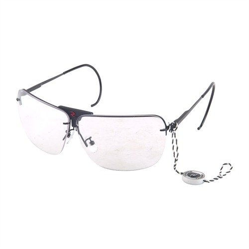 Amber,Clear Smoke RSG 3 Lens Shooting Glasses Black