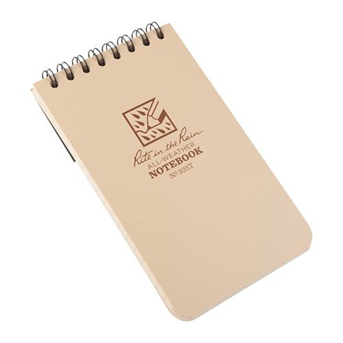 "All-Weather Universal Notebook, Tan, 3"" x 5"""