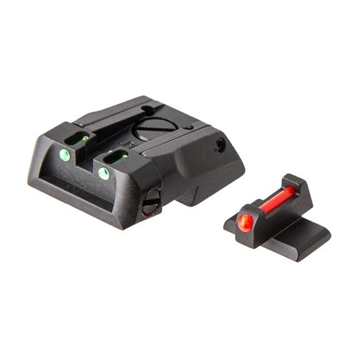 Fiber Optic Adjustable Sight Set, Novak Style