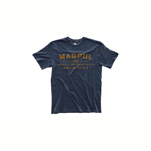 Fine Cotton Go Bang Parts T-Shirt Navy Medium