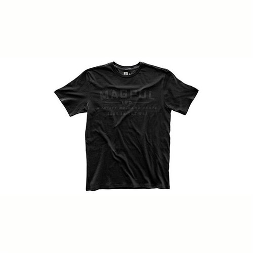 Fine Cotton Go Bang Parts T-Shirt Stealth Black Large