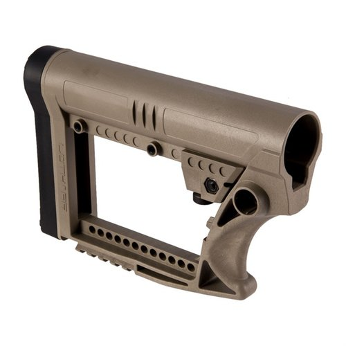 AR-15 Skullation Stock Assembly Collapsible Carbine FDE