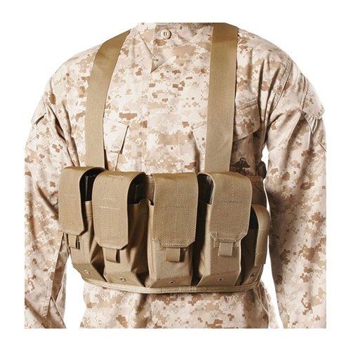 Chest Pouches M16/M4 Holds 4 Mags & 2 Pistol Mags - De