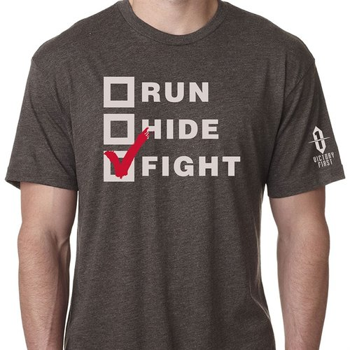 Run, Hide, Fight! TShirt Macchiatto Sm