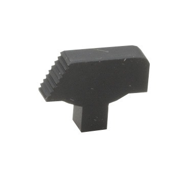 1911 Front Sight Only Serrated Ramp Plain Black Wide Tenon
